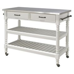 Savannah Kitchen Cart - White Use these instead of traditional cabinets and counters?