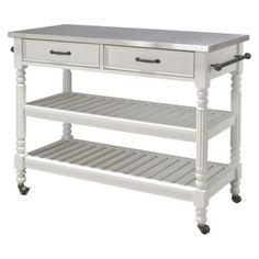 Home Styles Savannah Kitchen Cart - White
