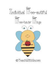 Classroom Freebies: Individual Bee-havior Bingo