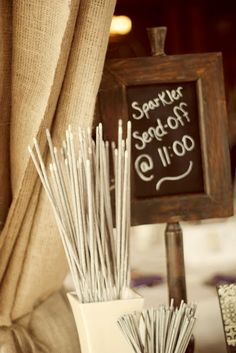 Send off sign so everyone knows when you plan on leaving! I want sparklers at my wedding! Plan My Wedding, Cute Wedding Ideas, Our Wedding, Dream Wedding, Wedding Inspiration, Wedding Pics, Wedding Stuff, Wedding Events, Wedding Reception