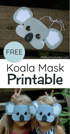 Koala mask for kids