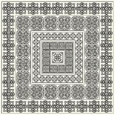 blackwork embroidery free patterns | Blackwork Challenge 2