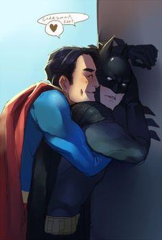 Superman And Batman Superman X Batman, Gay Comics, Batman Comics, Batman Comic Art, Superfamily Avengers, Superbat, Batman Family, Dc Movies, Clark Kent
