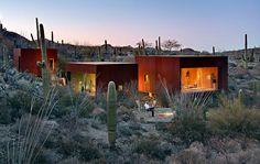 The Desert Nomad House, Tucson, Arizona | Three steel and glass cubes by Rick Joy Architects