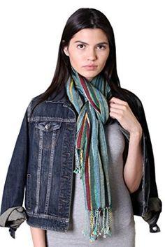 Women's Glamour Jewel Shimmer Sparkle Stripe Fashion Stole Scarf (Turquoise): Amazon.co.uk: Clothing