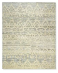 Rug idea for dining room once hardwood floors go in. Hand Knotted Tonal Ikat Rug #williamssonoma