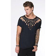 T Shirt Bird - Corte a Laser - Linho com Viscose