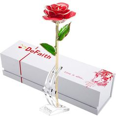 New DEFAITH Gold Rose Made Real Fresh Long Stem Rose Flower, Great Anniversary Gifts Her, Red Stand online - Thechicfashionideas Long Stem Flowers, Silk Flowers, 24k Gold Rose, Real Rose Petals, 90th Birthday Gifts, Birthday Parties, Great Anniversary Gifts, Valentines Day Gifts For Her, Gold Dipped