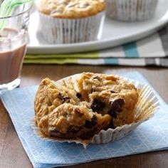 Chocolate Chip Oatmeal Muffins Recipe from Taste of Home