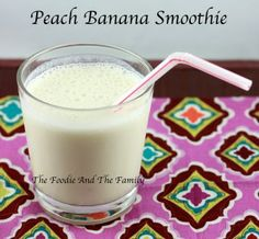 Peach Banana Smoothies