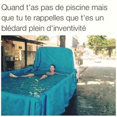 qd t'as pas de piscine mais que tu as un camion Funny Facts, Funny Memes, Humour Geek, Rage, Funny True Quotes, Best Tweets, Laughing And Crying, Pokemon, Good Jokes