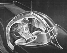 Croquis du tableau de bord et de l'habitacle de l'Astra Gnome Time and Space Car…