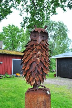 Rusty garden art owl | The Tages garden: July 2014