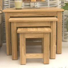 mobel oak nest of 3 coffee tables 3 coffee tables contemporary decor solid oak