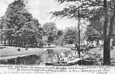 Utrecht op zondag | De Knuppelbrug, nu Herenbrug | Gepost in 1902 | Beste Ette, Wel bedankt voor je mooie briefje.