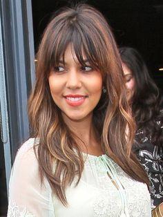 kourtney kardashian hair with bangs - Google Search