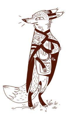 Fox & Brownsugar by Jerome Queval Fox Illustration, Illustrations, Character Illustration, Fox Art, Animation, Animal Design, Fox Design, Character Design Inspiration, Creature Design