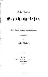 Erziehungslehre : In dt. Übers. hrsg. v. Fritz Schultze