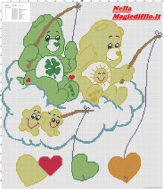 Care Bear fishermen baby blanket (click to view)