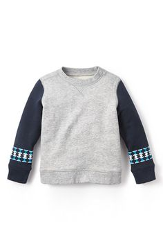 Tea Collection 'Trinidad' Colorblock Sweatshirt (Toddler Boys & Little Boys) available at #Nordstrom