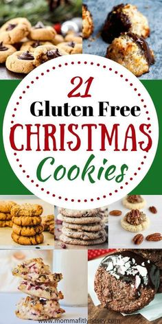 21 Gluten Free Christmas Cookies for a Healthier Christmas Dessert! Claudia - 21 Gluten Free Christmas Cookies for a Healthier Christmas Dessert! gluten free christmas cookie recipes for gluten free baking for the holidays - Gluten Free Deserts, Gluten Free Sweets, Foods With Gluten, Dairy Free Recipes, Gluten Free Party Food, Celiac Recipes, Wheat Free Recipes, Gluten Free Christmas Recipes, Gluten Free Christmas Cookies