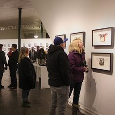 SnapWidget | Great opening tonight for our new Derek Hess exhibit, thanks to everyone who came out. Exhibit is up until February 8 and also on our gallery website now.