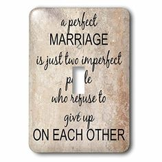 3dRose lsp_180092_1 a perfect marriage black lettering on picture of marble print background  Single Toggle Switch >>> Click on the image for additional details. This is Amazon affiliate link. #Lawn