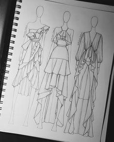 Save Lives : Help Stop Coronavirus Fashion Design Sketchbook, Fashion Design Portfolio, Fashion Design Drawings, Fashion Sketches, Dress Sketches, Fashion Drawing Dresses, Fashion Illustration Dresses, Drawing Fashion, Fashion Illustration Tutorial
