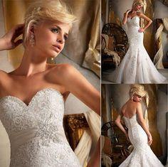 wedding dress #sweatheart #mermaid