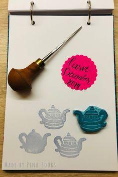 Day 18 of Carve December 2019- it's Christmas time...just have a cup pf tea served in a nice teapot.... #CarveDecember;  #CarveDecember2019; check out: Balzer Designs: #CarveDecember 2019   #handcarvedrubberstamps; #handgeschnitztestempel; #diyrubberstamps;#linocut;#linolschnitt;#selbstgemachtestempel;#stempelselbermachen;#diystempel;#diystamps;#stempelselberschnitzen; #stampcarving; #stempelschnitzen; #printmaking;