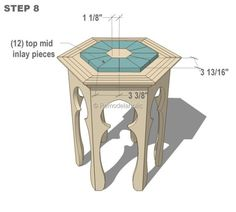 Need a Moroccan side table? You can build one yourself using these great Moroccan side table plans! Moroccan Home Decor, Moroccan Furniture, Diy Home Furniture, Gothic Furniture, Refurbished Furniture, Furniture Projects, How To Make Tiles, Moroccan Side Table, Tile Tables