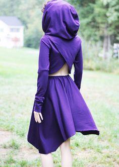 Kleid Casual Tageskleid niedrige hohe Kleid von MIRIMIRIFASHION