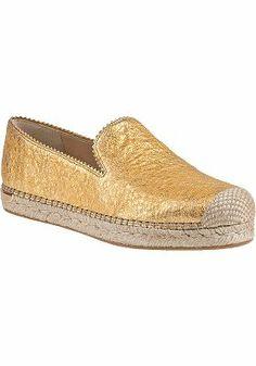Stuart Weitzman - Biarritz Platform Espadrille Gold Leather - Jildor Shoes