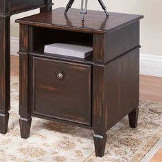 Martin Home Furnishings Eclectic Navarro 1 Drawer File Cabinet