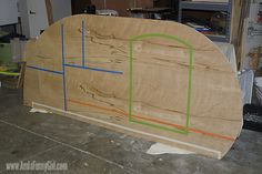 03 Teardrop trailer template cut out