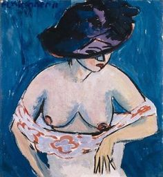 Ernst Ludwig Kirchner (1880 - 1938) - Female Nude with Hat 1911. Oil on Canvas Museum Ludwig, Köln, Germany
