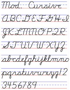 Examples of Handwriting Styles - Draw Your World - Draw & Write Together Teaching Cursive, Cursive Handwriting Practice, Handwriting Recognition, Improve Your Handwriting, Handwriting Worksheets, English Cursive Alphabet, English Handwriting Styles, Cursive Font Download, Cursive Fonts