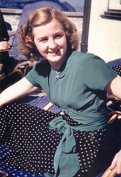 Eva Braun at the Berghof, undated -