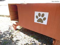 Placa para Indicação de Casinha de Cachorro.