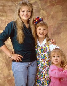 Pin for Later: 32 Perfect Pop Culture Halloween Costumes For Sisters DJ, Stephanie, and Michelle Tanner From Full House Halloween Costumes For Sisters, Pop Culture Halloween Costume, Michelle Tanner, Rupaul, Full House Tv Show, Full House Cast, Full House Funny, Ice Queen Adventure Time, Full House Quotes