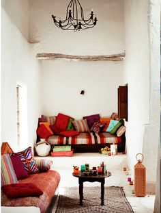 I want a bright pillow nook to relax in :)