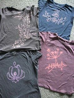 DIY Bleach Pen T-Shirts.   Love this!  This could be our new tie dye!