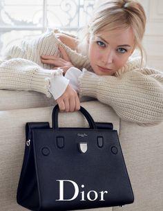 Actress Jennifer Lawrence returns for Dior's spring-summer 2016 handbag campaign.