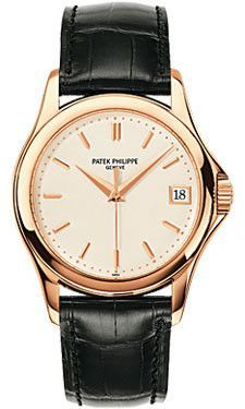 Patek Philippe Calatrava Watches. 37mm 18K rose gold case, sapphire crystal back, screw-down crown, silvery gray dial with gold applied hour markers, self winding caliber 324 S C movement with date an