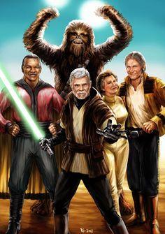 Galaxy Fantasy: Fan art: Star Wars, vuelven las viejas glorias