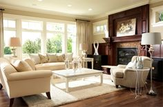 living room contemporary traditional
