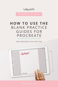 You can grab our free practice guide for Procreate in our Lettering Library by signing up below. But need to know how to import it into Procreate so you can use it? Here's an easy tutorial to help you figure that out. Lettering Guide, Lettering Design, Brush Lettering, Inkscape Tutorials, Calligraphy For Beginners, Hand Lettering Practice, Hand Lettering Tutorial, Ipad Pro, Graphic Design