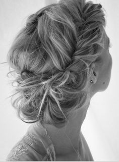 Bridesmaid wedding hairstyle (by astikusuma) Chic Hairstyles, Popular Hairstyles, Pretty Hairstyles, Style Hairstyle, Twisted Hairstyles, Hairstyle Ideas, Grecian Hairstyles, Summer Hairstyles, French Plait Hairstyles