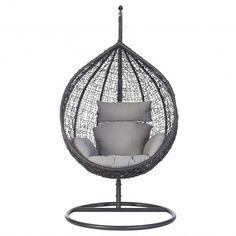 Intratuin hangei in standaard donkergrijs Hanging Chair, Furniture, Home Decor, Design, Balcony, Decoration Home, Hanging Chair Stand, Room Decor
