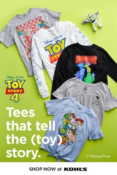 Get ready for a new adventure with Disney and Pixar's Toy Story 4 clothes and toys at Kohl's Find great deals on character clothing for everyone in the family, and take 10 off select toys for the movie's littlest fans Gather your friends, an - b Toy Story Birthday, Toy Story Party, 4th Birthday, Cute Summer Outfits, Cute Outfits, Disney Toys, Disney Pixar, Swag Style, My Style